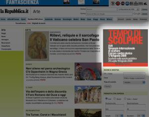 Il banner su Repubblica.it