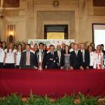 Foto di gruppo a Palazzo Marino, Milano (foto: Tarantini x LVF)