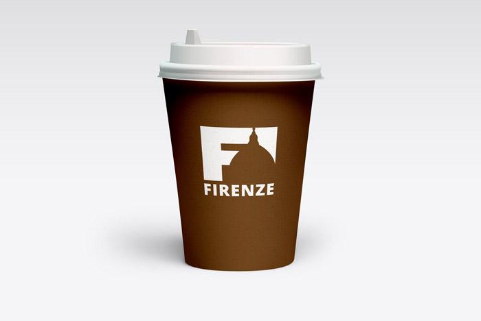 cup caffé da asporto con logo