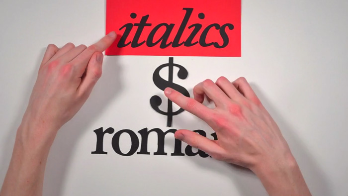 The History of Typography - Italics vs Roman