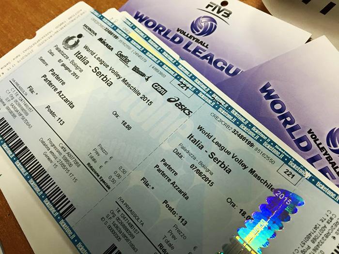 i biglietti della world league 2015