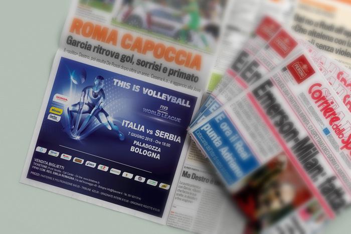 realizzazione manchette pubblicitaria world league 2015